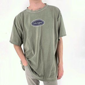 Life is Good Classic Olive Graphic Tee